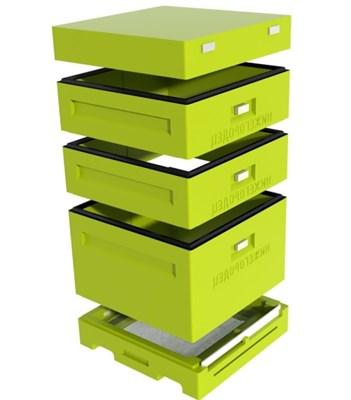 Улей Дадан 1 корпус 12 рамочный + 2 магазина, ППУ нижегородец, комплект - фото 4795