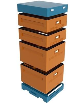 Улей 10 рамочный 2 корпуса Дадан + 2 магазина, ППУ Нижегородец, комплект. - фото 4805