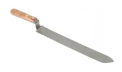 Нож пасечный зубчатый с односторонней заточкой, 280мм. - фото 4997
