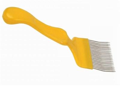 Вилка для распечатки сот с изогнутой иглой нержавейка - фото 5004