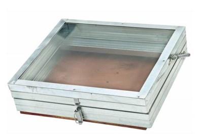Воскотопка солнечная оцинкованная стеклянная крышка - фото 5035