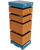 Улей 10 рамочный 2 корпуса Дадан + 2 магазина, ППУ Нижегородец, комплект.