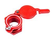 Кран для медогонки диаметр 45 мм пластиковый красный.