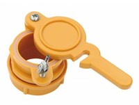 Кран для медогонки диаметр 45мм нейлоновый желтый.